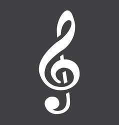 treble clef glyph icon music and instrument vector image