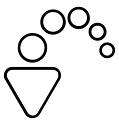 Undo outline icon vector