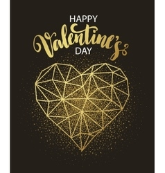 Valentines day love greeting card with geometric vector image vector image