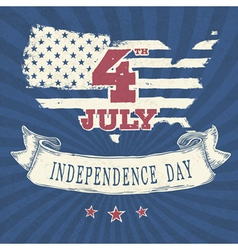 vintage styled independence day poster vector image