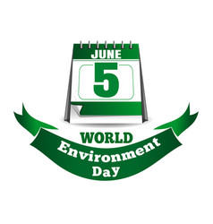 world environment day calendar 5 june vector image vector image