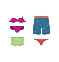 Underwear clothes set vector image