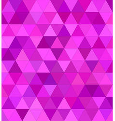 Pink triangle mosaic background design vector