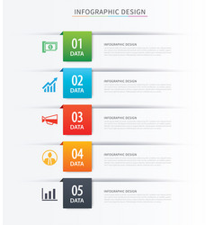 business index infographics template with 5 data vector image