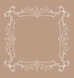 vintage frame for monograms vector image