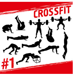 crossfit concept vector image