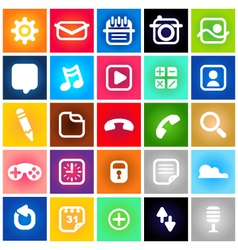 Metro style icons vector