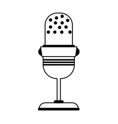 Stationary microphone icon image vector