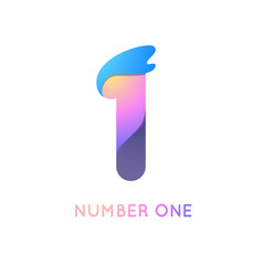 Number one in trend shape style vector