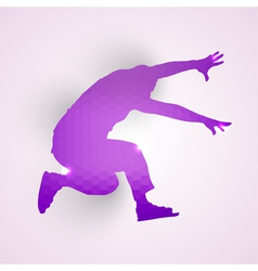 Silhouette of jumping man vector