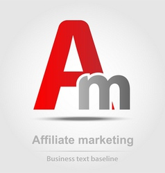 Affiliate marketing business icon vector