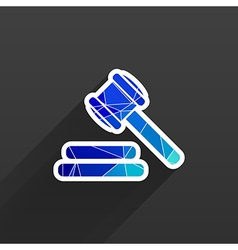 Icon gray background gavel law legal hammer vector