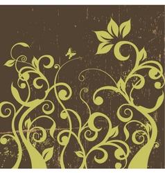 Decorative floral grunge vector