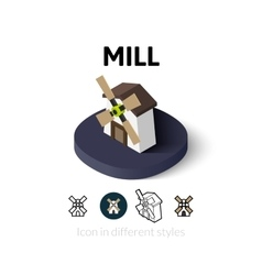 Mill icon in different style vector