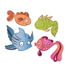 little emotional fish vector image
