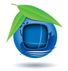 globe house icon vector image