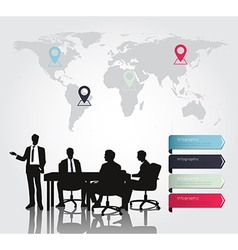 Business meeting with modern infographic vector