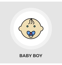 Baby boy flat icon vector