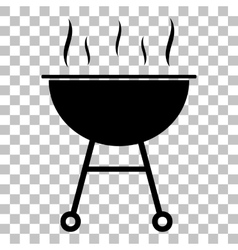 Barbecue simple sign flat style black icon on vector