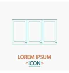 Wardrobe computer symbol vector
