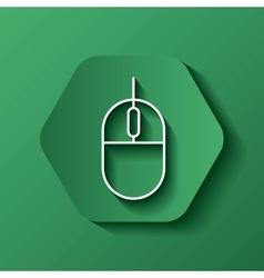 Mouse icon gadget design over hexagon vector