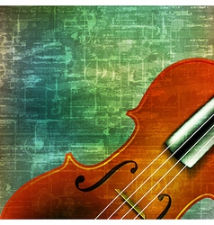 abstract music grunge vintage background violin vector image