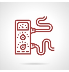Amplifier red line icon vector