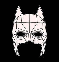 batman mask black and white symbol triangles vector image vector image