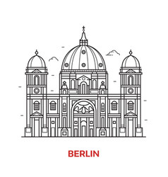 berlin landmark icon vector image vector image
