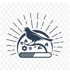 Black downloads singing bird vector