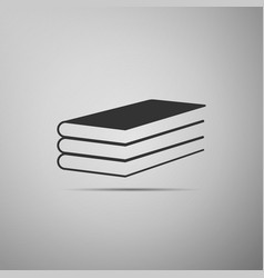 Books icon isolated on grey background vector