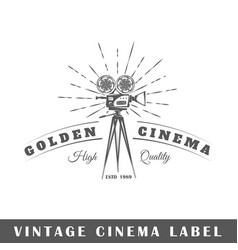 Cinema label vector