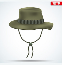Classic military boonie hat vector