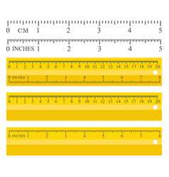 color yellow measuring vector image vector image