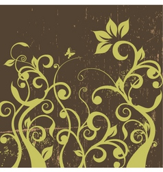 Decorative floral grunge vector