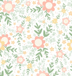Decorative flowers seamless pattern vector image vector image