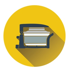 Electric con oven icon vector image vector image