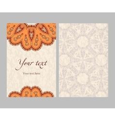 Ethnic sided card vector