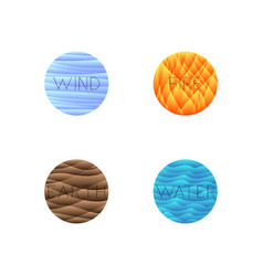 Four elements isolated into vector