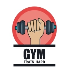 gym training hard hand and barbell vector image