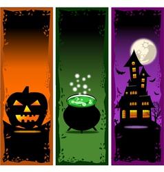 Halloween banners set 2 vector