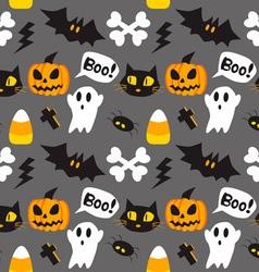 Halloween cartoon seamless background vector image vector image