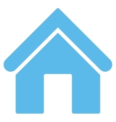 Home flat blue color icon vector image vector image
