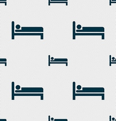 Hotel icon sign Seamless pattern with geometric vector image vector image