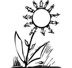 Human Flower vector image