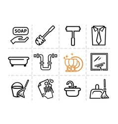 Icons set Cleaning vector image vector image