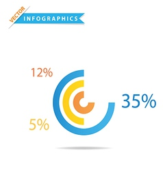 Infographics Pie Chart vector image vector image