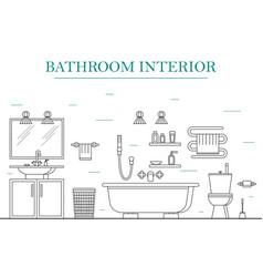 interior classic bathroom with furniture vector image
