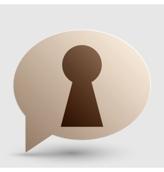 Keyhole sign brown gradient icon on vector