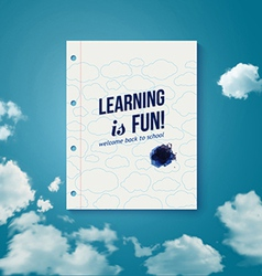 Learning is fun motivating poster vector